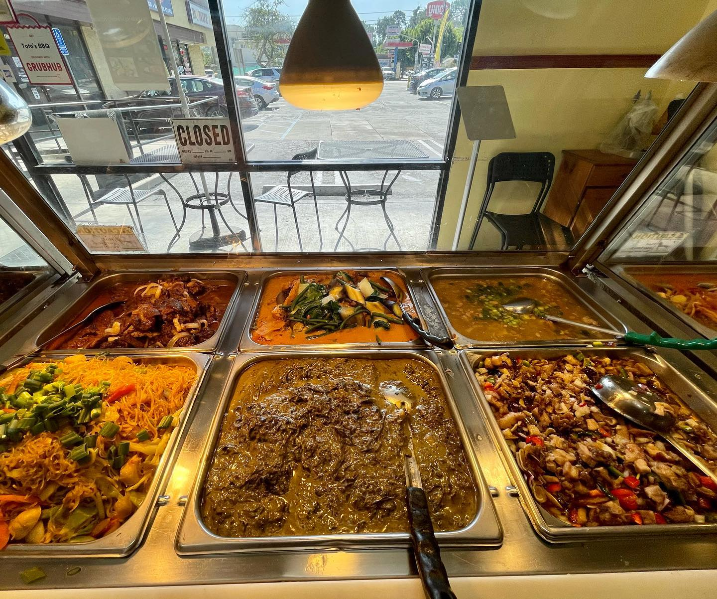 assorted meals on a buffet