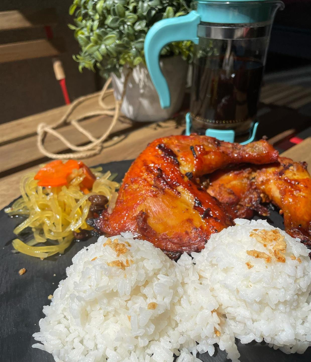 barbecue chicken with rice