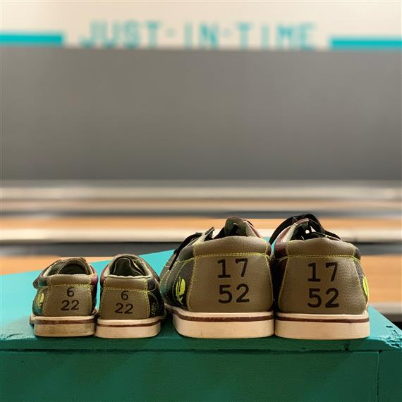 adult and kids bowling shoes