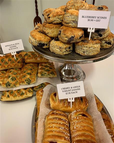 assorted danishes and scones