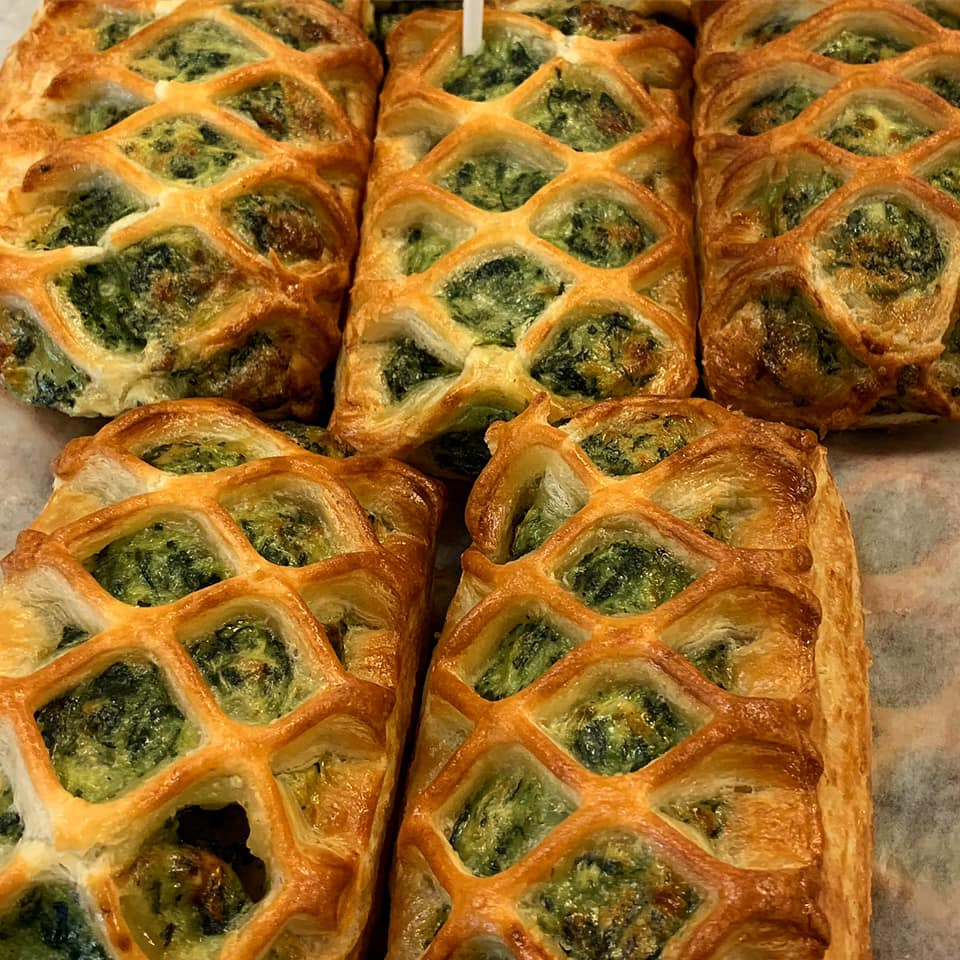 spinach and feta cheese danish