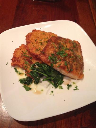 Chicken cutlet with spinach