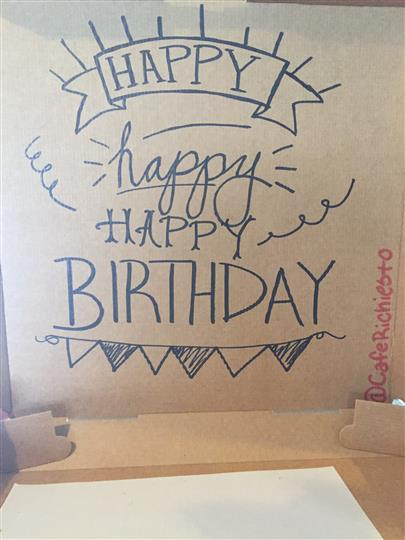 Birthday Pizza Box