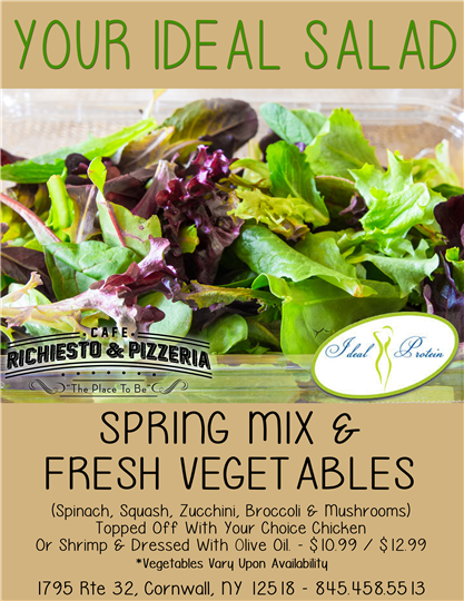 Spring Mix and fresh vegetables salad