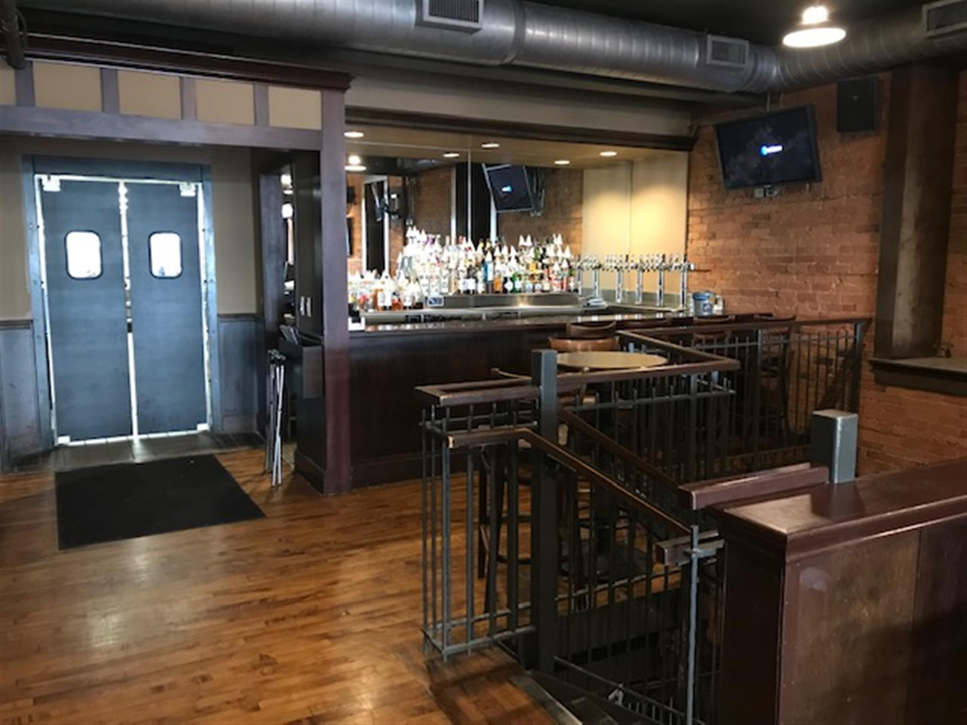 second floor bar and door to the kitchen