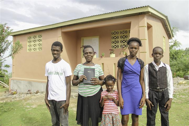 Laguerre Family & their new house