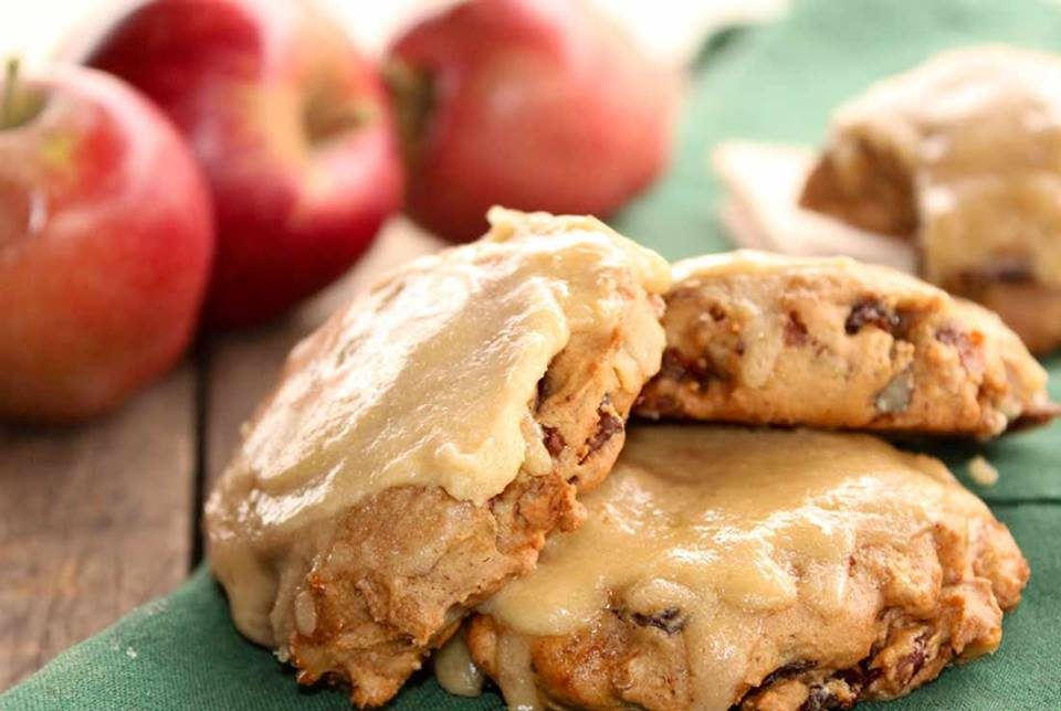 baked apple scones on a plate
