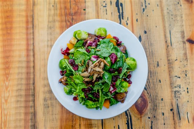grain salad with brussel sprouts