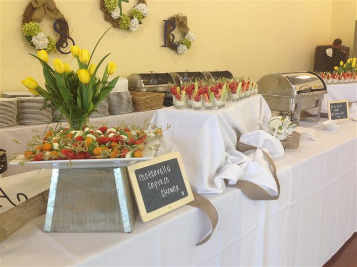 catering display of food