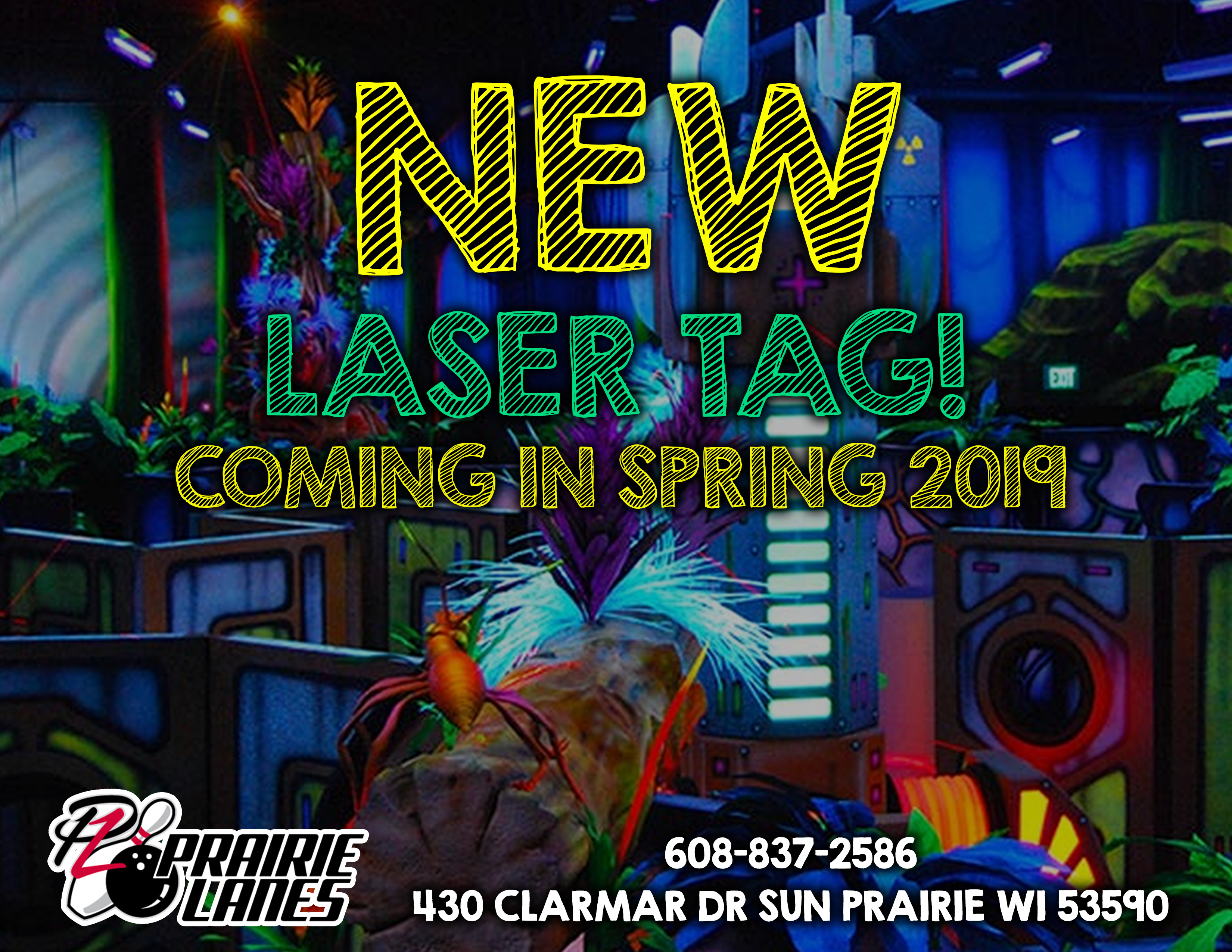 New laser tag coming in spring of 2019!