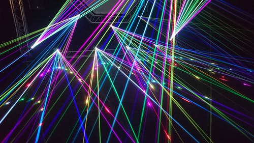 lasers pointing in various directions