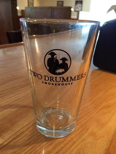 Two drummer glass