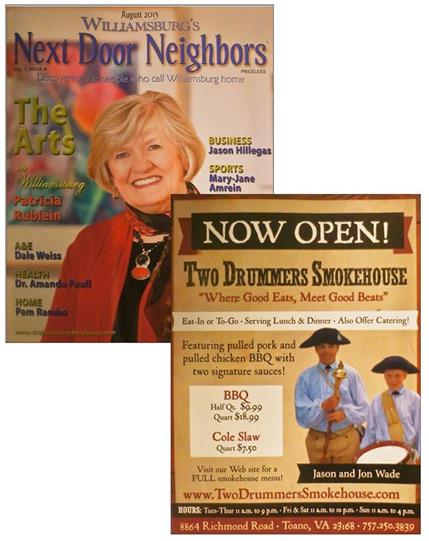 Magazine cover and promotinal flyer