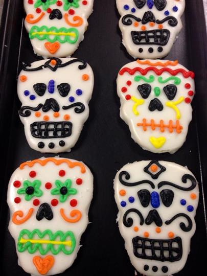 Mexican Scull cookies