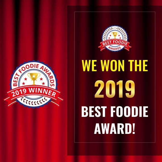 we won the 2019 best foodie award!