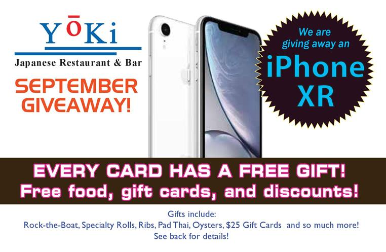 iPhone XR g8iveaway. every card has a free gift!