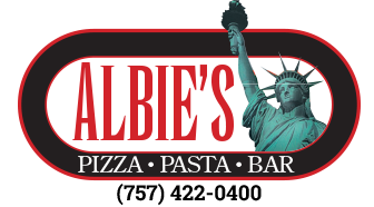 Albie's. Pizza, pasta, bar. 757-422-0400.
