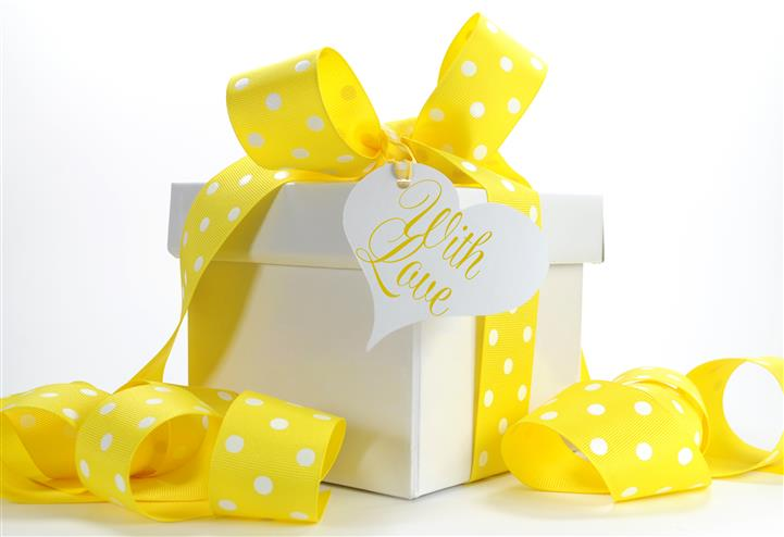 """Gift Box that says 'With Love"""""""