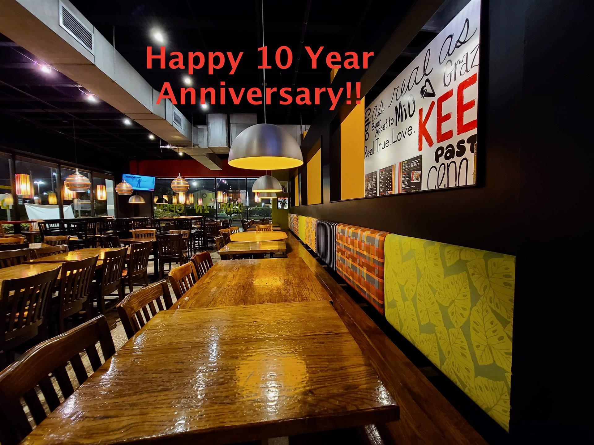 Restaurant Redesign - for 10th anniversary