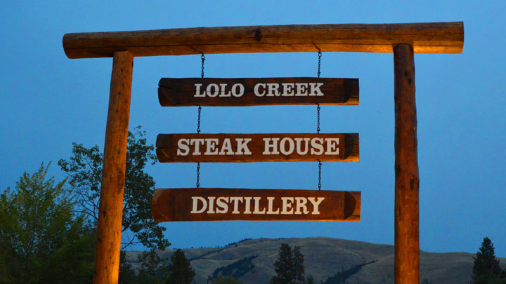 Lolo Creeak Steakhouse Fall Signage