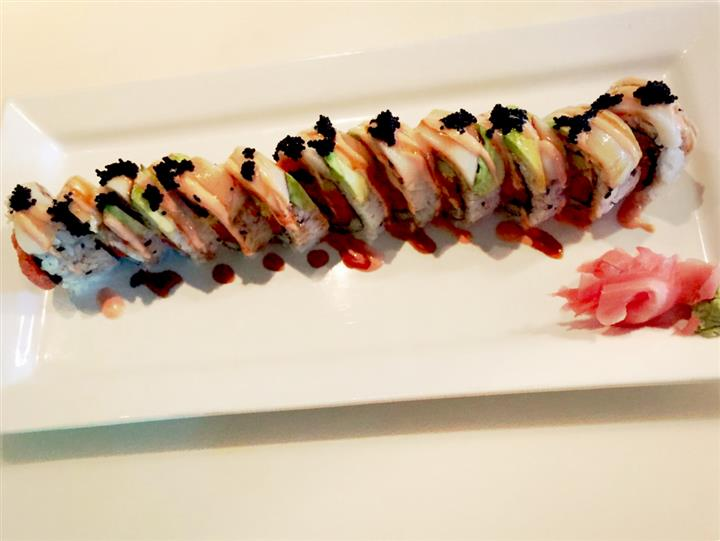 sushi decoratively spread on a plate