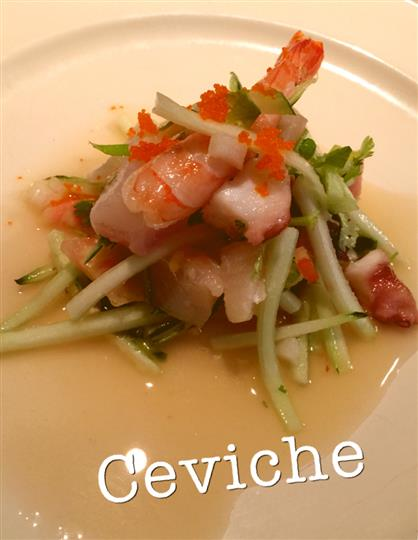 ceviche in a light sauce