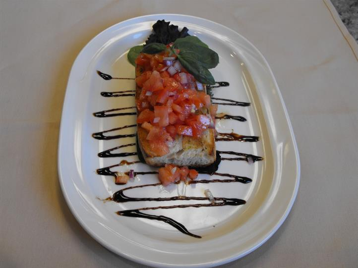 bruschetta with lots of diced tomatoes