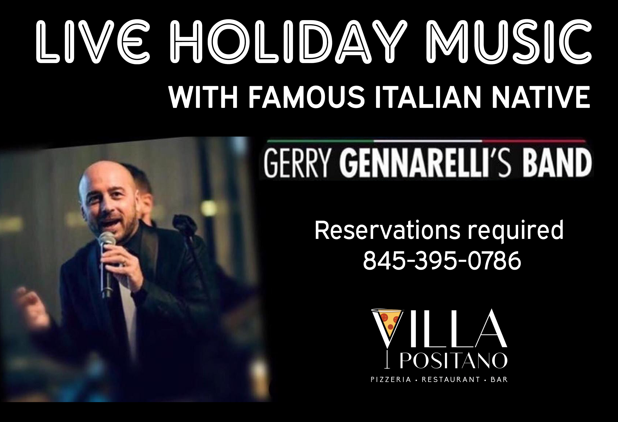 Live Holiday Music with famous Italian native Gerry Gennarelli