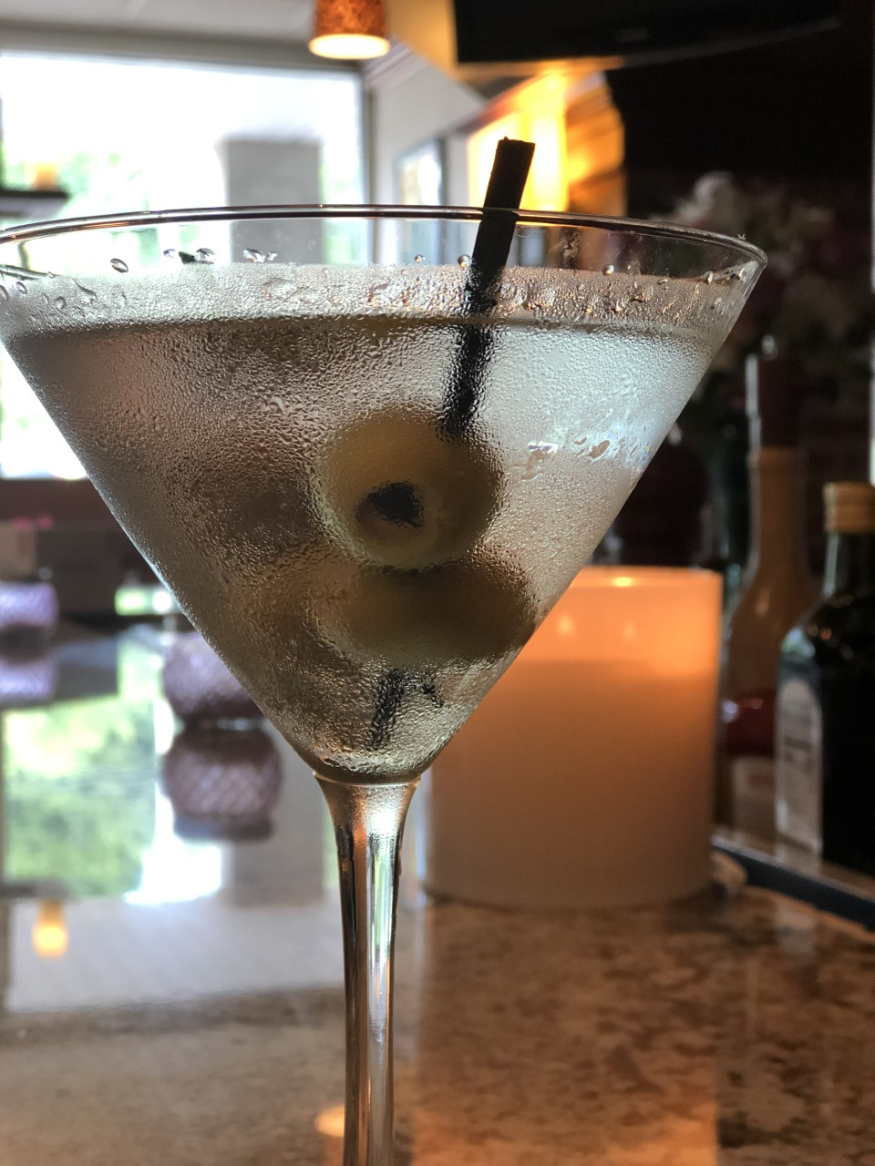 martinin with olives