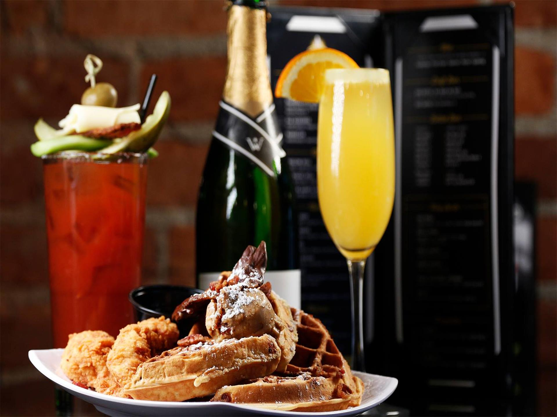 Mimosa's, Bloody Mary's, and Chicken & Waffles