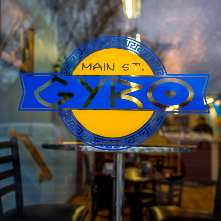 Main Street Gyro Window Decal