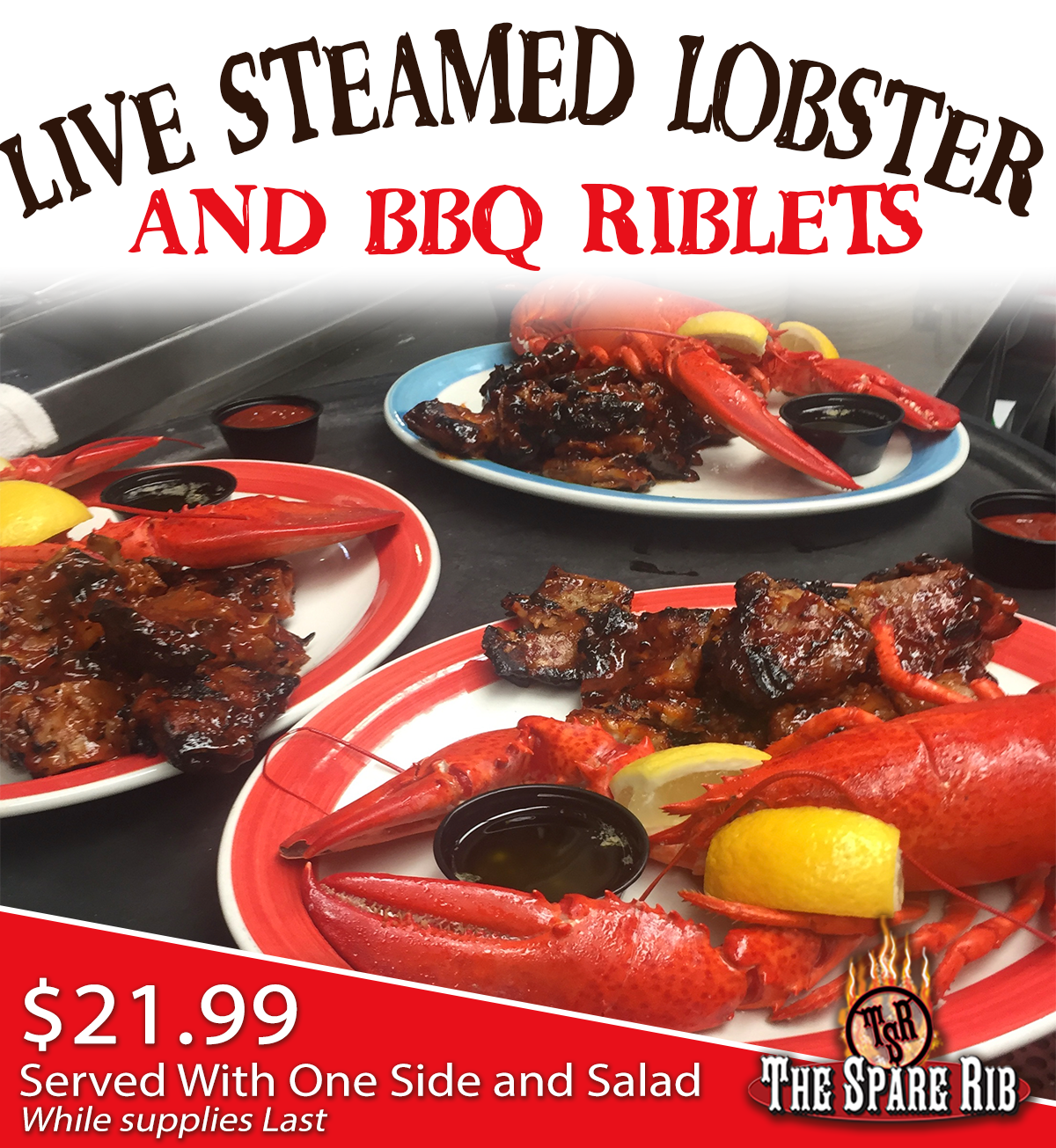 2020 Live Lobster and Riblets