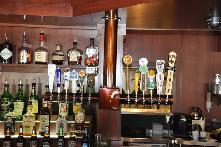 Beer taps at bar area