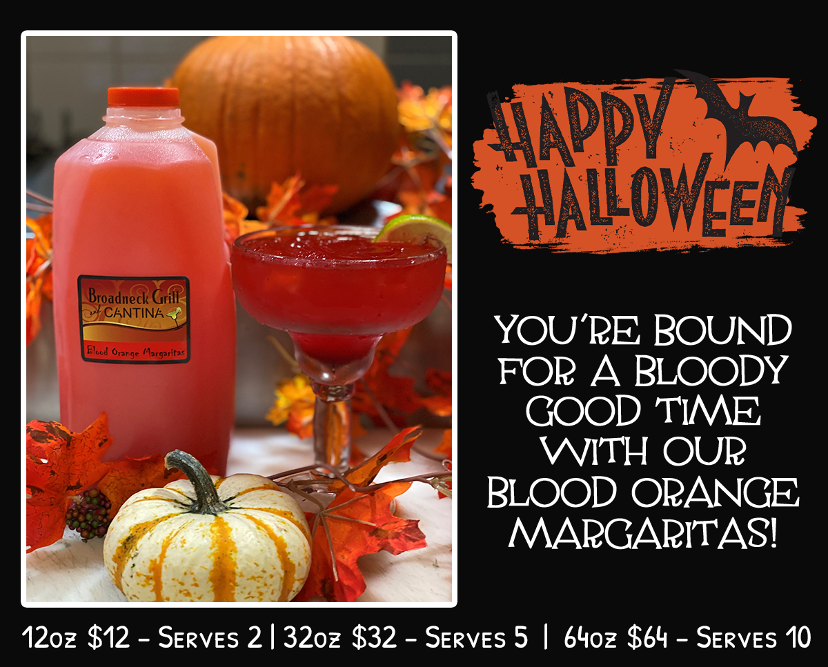 Happy Halloween! You're bound for a bloody good time with our Blood Orange Margaritas!