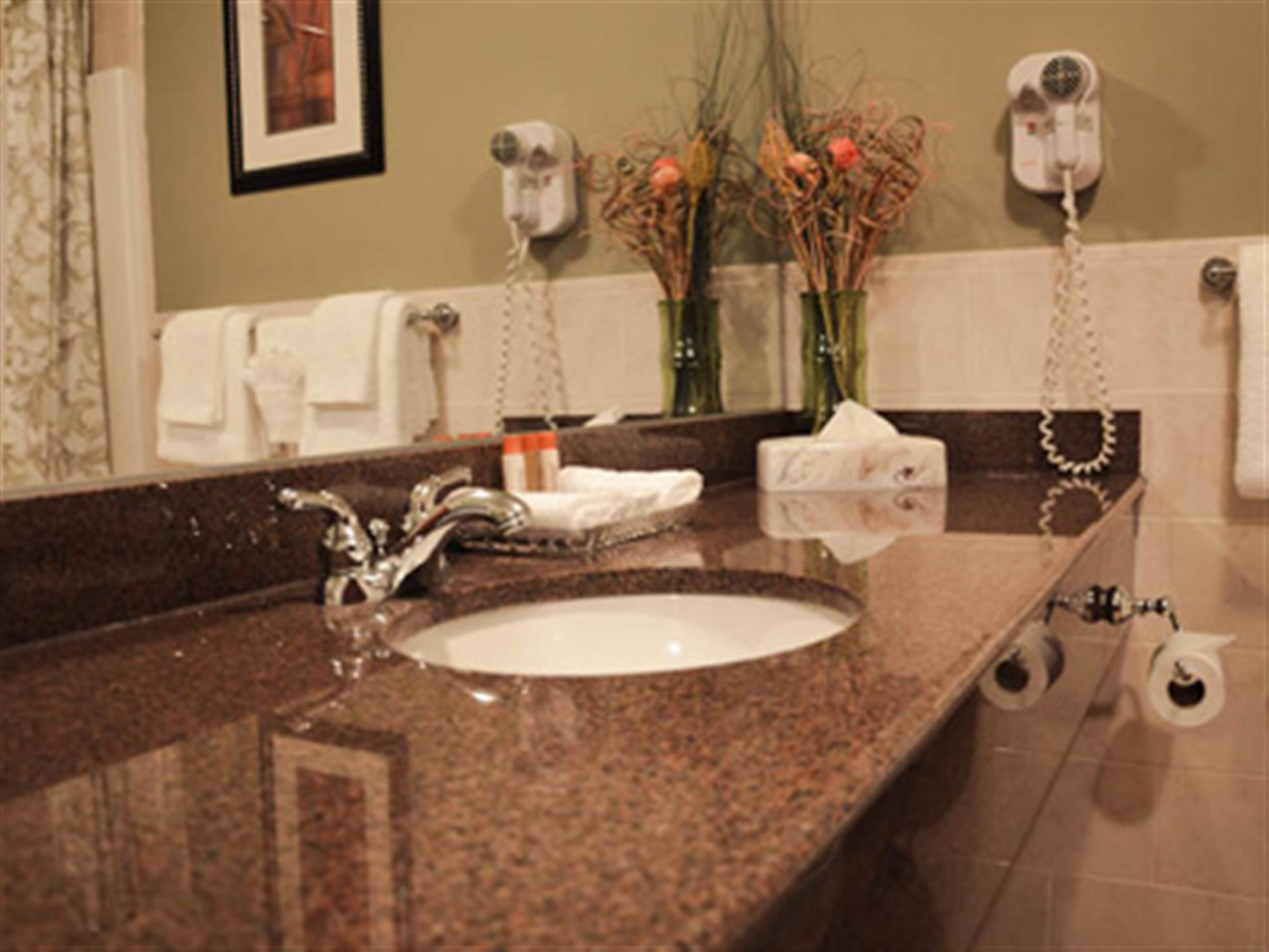 view of bathroom counter with sink