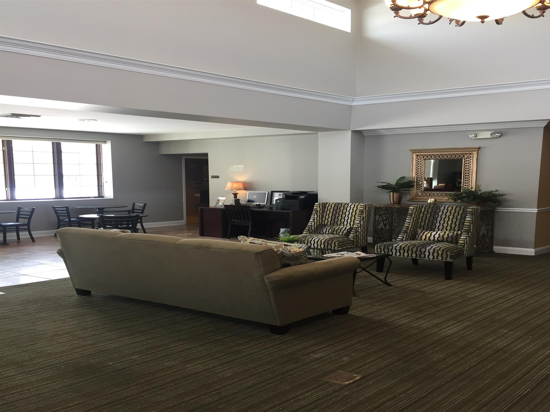 lobby with couch