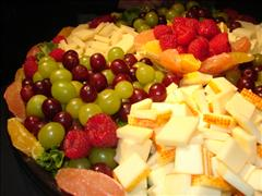 Cheese Platter with Fruit Garnish
