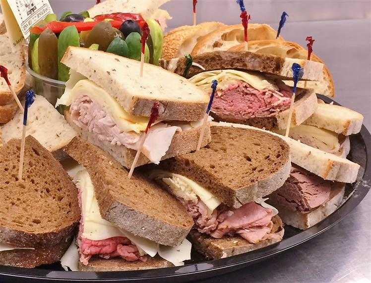 Assorted sandwich platter