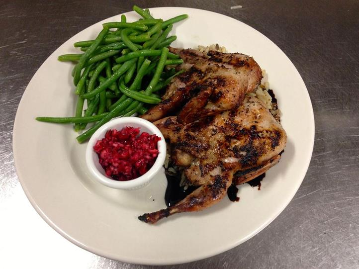 Grilled chicken with side of green beans