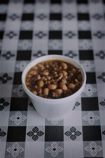 a cup of beans