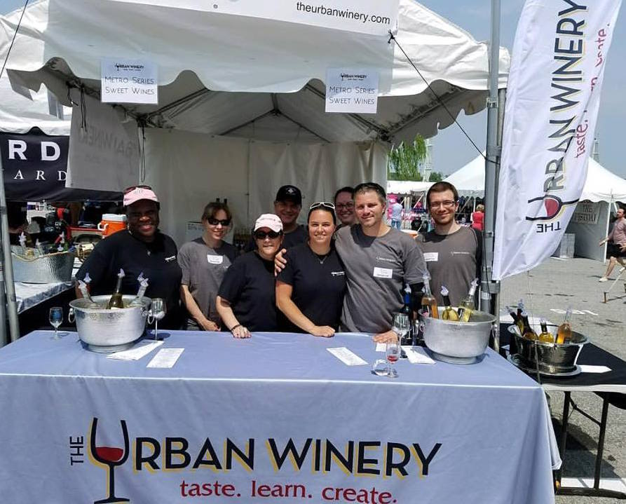 the urban winery booth