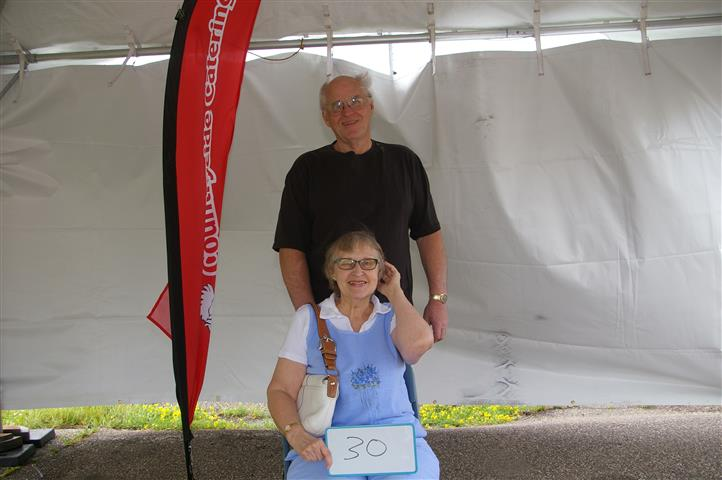 couple with sign