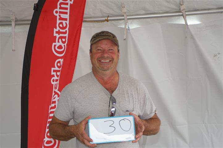 """man with sign that reads """"30"""""""
