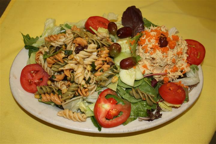 pasta salad with various vegetables