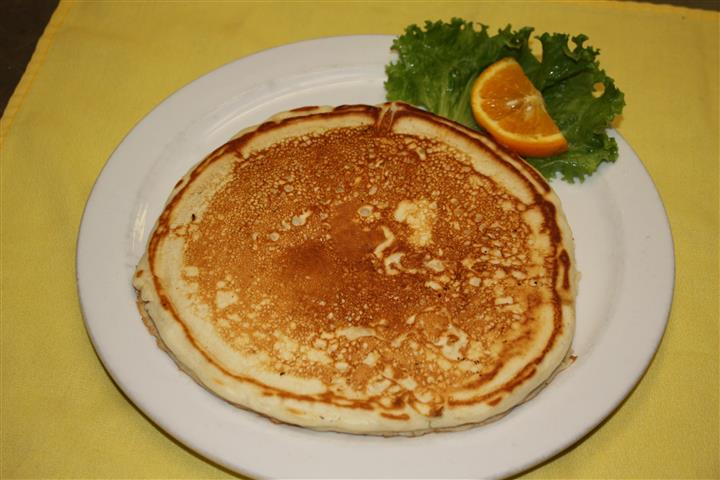 pancake with garnish