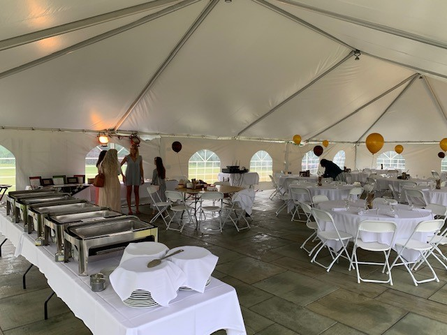 We have added a White Tent for your outdoor gatherings. Call for details.