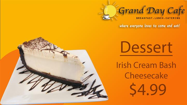 Irish Cream Bash cheesecake
