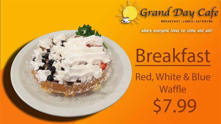 Red White Blue Waffle
