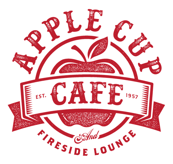 Apple Cup Cafe and Fireside lounge, established 1957