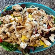 salad with cheese and chicken